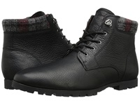Woolrich Beebe Leather Black Plaid Wool Men's Boots