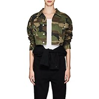 Re Done Camouflage Crop Jacket Multi