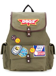 Dsquared2 Dsq2 Patch Backpack Green