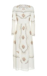 Vilshenko The Sofia Cotton Lawn Midi Dress White