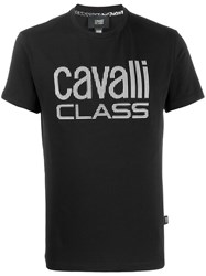 Class Roberto Cavalli Embroidered Logo T Shirt Black