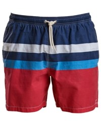 Barbour Men's Colorblocked Swim Trunks Red