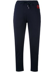 Markus Lupfer Lara Lip Sweat Pants Women Cotton M Blue