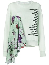 Each X Other Floral Printed Loose Sweatshirt Green