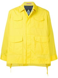Guild Prime Flared Sleeve Cropped Jacket Yellow And Orange