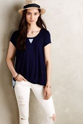 Bordeaux Cavay Scooped Tee Navy