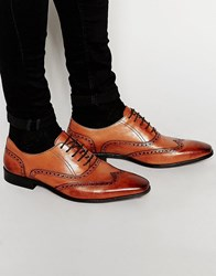 Dune Leather Wing Tip Brogues Tan