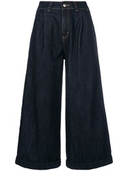 Societe Anonyme Cropped Wide Leg Jeans Blue