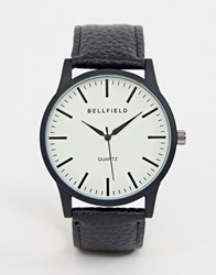 Bellfield Cream Dial Watch With Black Strap