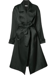 Nomia Drawstring Oversized Coat Black