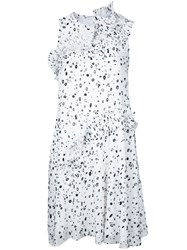 Carven Dots Print Dress Women Polyester 38 White
