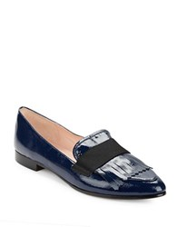 Kate Spade Cayla Pointy Toe Patent Leather Loafers Lapis Blue