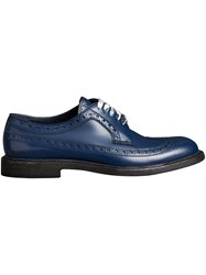 Burberry Leather Brogues With Painted Laces Blue