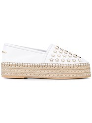 Philipp Plein Wedge Espadrilles Women Calf Leather Leather Foam Rubber 38.5 White