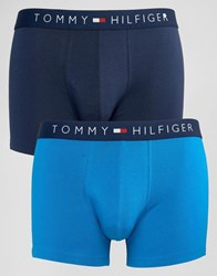 Tommy Hilfiger 2 Pack Icon Trunks Blue
