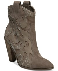 Carlos By Carlos Santana Sterling Western Booties Women's Shoes Taupe