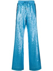 Alberta Ferretti Rainbow Week Track Pants Blue