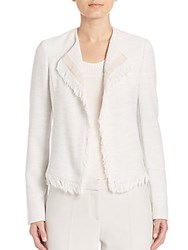 Boss Black Komina Fringe Jacket White