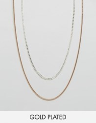 Pilgrim Double Layered Necklace Gold