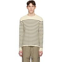 Norse Projects Off White And Navy Stripe Verner Normandy Sweater
