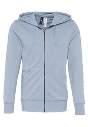 Adidas Performance Essentials Linear Tracksuit Top Tactile Blue White Light Blue