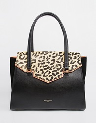 Pauls Boutique Paul's Boutique Ashley Leopard Shoulder Bag Black