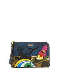 Marc Jacobs Clouds Flat Pouch Bag Khaki Multi