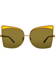 N 21 No21 Oversized Cat Eye Sunglasses Yellow And Orange