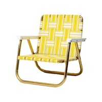 Funboy Retro Lawn Chair Yellow White