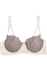 Mimi Holliday Lace And Tulle Contour Bra Gray