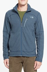 The North Face Men's 'Texture Cap Rock' Fleece Jacket Dish Blue
