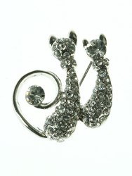 Indulgence Two Cats Brooch