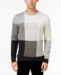 Alfani Men's Colorblocked Sweater Only At Macy's Vanilla Combo