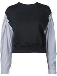 3.1 Phillip Lim 'French Terry' Top Black