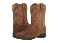 Ariat Western Roper Antique Mocha Suede Cowboy Boots Brown