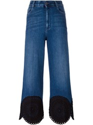 Stella Mccartney Scalloped Hem Jeans Blue
