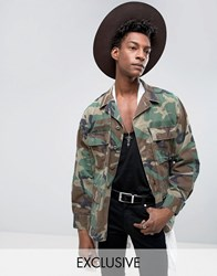 Reclaimed Vintage Revived Camo Bdu Military Jacket Green