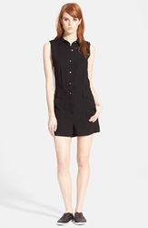 Marc By Marc Jacobs Marc By Marc Jacbos Sleeveless Short Jumpsuit Black