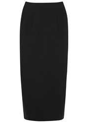 Eileen Fisher Black Jersey Midi Skirt