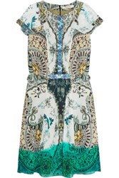Etro Printed Silk Chiffon Dress Multi