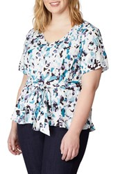 Rebel Wilson X Angels Plus Size Print Sash Top Painted Camo
