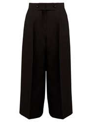 Valentino High Rise Wide Leg Culottes Black