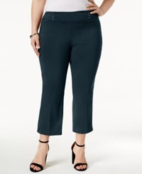 Jm Collection Plus Size Pull On Cropped Pants Only At Macy's Intrepid Blue