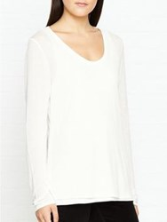 Jigsaw Double Layer Long Sleeve Top Ivory