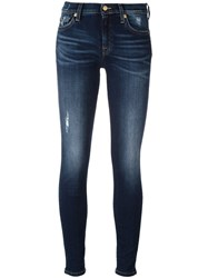 7 For All Mankind Super Skinny Jeans Blue