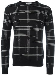 Salvatore Ferragamo Line Detail Jumper Black