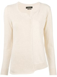Isabel Marant 'Calgary' Contrast Front Sweater Nude Neutrals