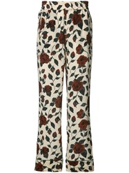 Ganni Floral Print Trousers