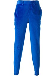 Christopher Shannon Velour Chinos Blue