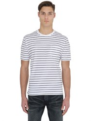 Brooks Brothers Striped Cotton Jersey T Shirt W Pocket